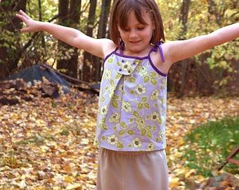 Girls shirt pdf ebook ON SALE sewing pattern dress