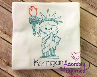 4th of July Statue of Liberty Patriotic USA Shirt