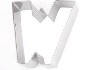 Eddingtons Stainless Steel Alphabet Letter Biscuit Cookie Pastry Cutters - W