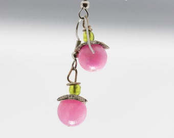 Pink Berry Earrings