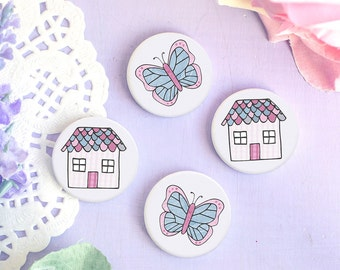 Cute Badges - Enjoy the Little Things Collection - Button Pins