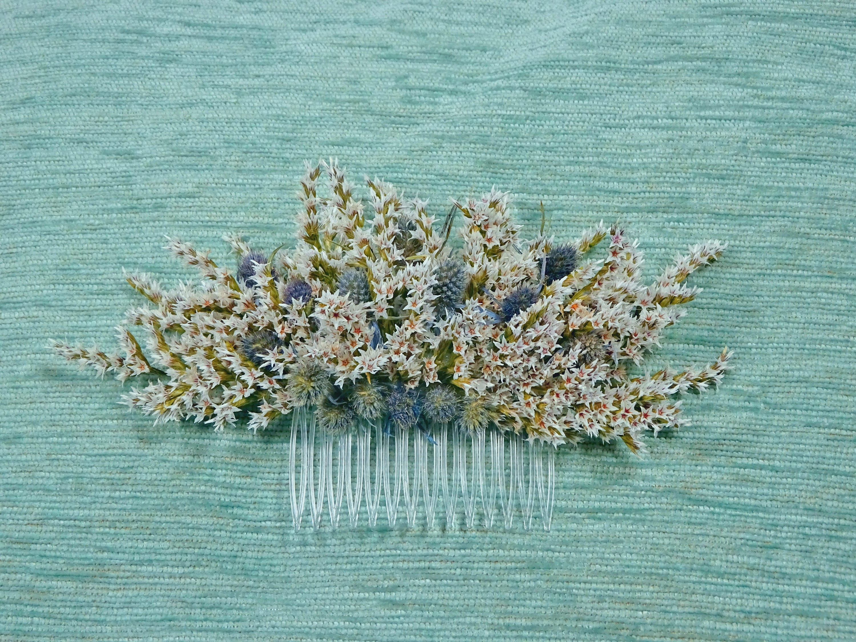 Stunning White Lavender And Pale Blue Thistle Dried Flower