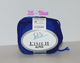 11 Aplha Yarn by On Line -  Mercerized Egyptian Cotton Yarn, Perfect for making high end luxury fashion accessories, clothing,
