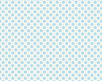 Circle Aqua 1 Yard Cut from Sew Cherry 2 by Lori Holt from Riley Blake Fabrics