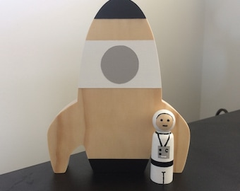 Rocket with Astronaut