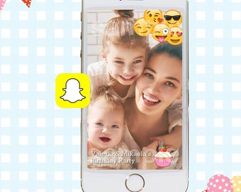 Snapchat GeoFilters, Birthday Snapchat Filters, Party Snapchat Filter, Emoji Party Snapchat GeoFilter, Emoji Party, Emoji GeoFilter