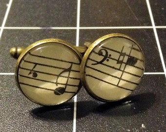 Music Note Cuff Links