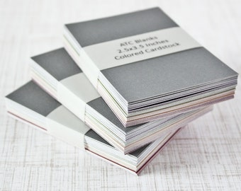 ATC Blanks ACEO Blanks Textured Cardstock Artist Trading Card Supplies ACEO Supplies Altered Art Mixed Media Scrapbooking 50 count Art Cards