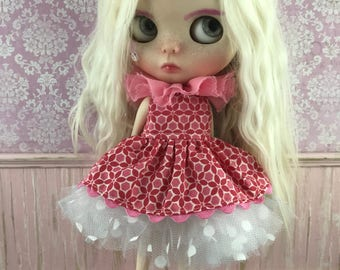 Blythe Tutu Dress Set - Pink and Red
