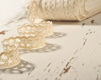 Crochet Lace Ribbon Lace Trim Crochet Ribbon Crochet Trim White Lace Ribbon Crochet Lace Trim Embellishment Wedding Lace Crocheted Lace