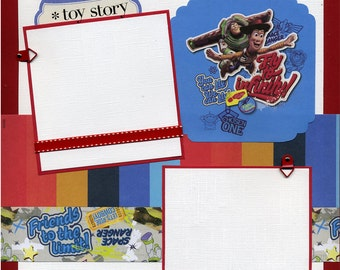 Fly to Infinity - Premade Toy Story Scrapbook Page