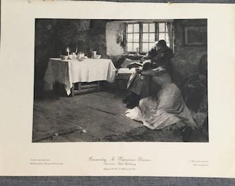 Bramley. A hopeless Dawn. 1920's antique print