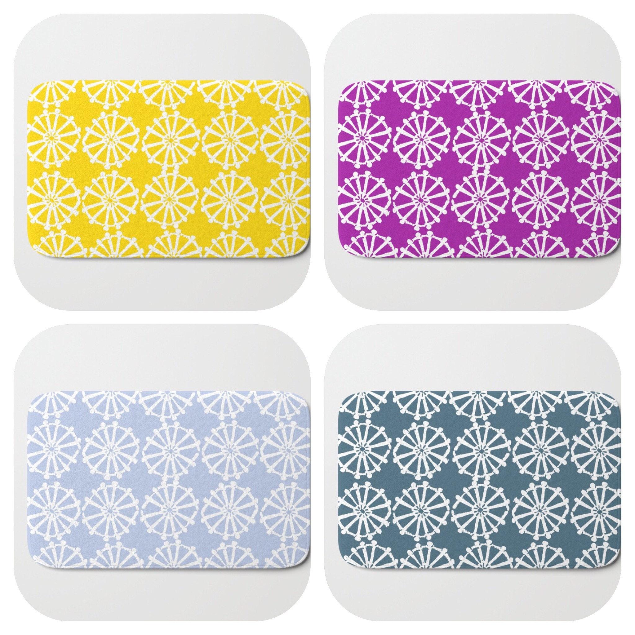 from elegant sets walmart rugs bathroom cabinet mat trendy bath thevol purple mats