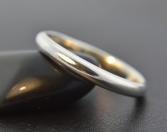Sterling Silver Ring, Thin Half Round Plain Band, Wedding Band, Thumb Ring, Pinkie Ring, Sterling Silver 925