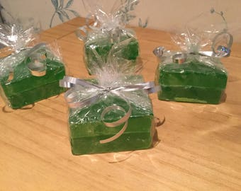 Lovely peppermint soap slices