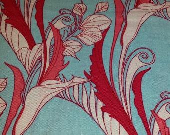 La Femme AEY-12600-70 Aqua 1/2 yd cuts cotton fabric