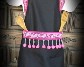 Beautiful Hmong Pink Apron