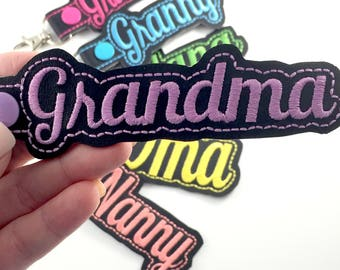 Gifts for Grandma - Grandmother gift ideas-keyfob-personalized keychain-best gifts for her
