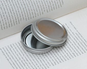 50ml Metal Tins, Blank Round Tin Boxes, Press To Open Tin Box, Small DIY Storage Box, 50 Tin Box