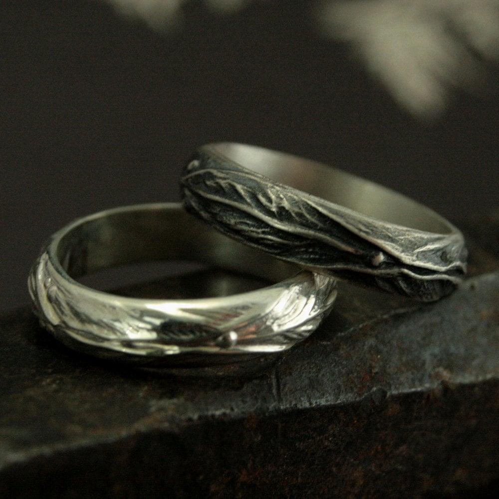 Elven Ring Sterling Silver Leaf Design Ring Fantasy