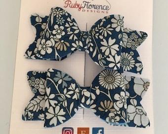 Liberty Print Bow Hair clips #1