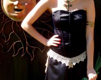 Alternative Bridal Wear, Black Bridal Wear, Steampunk Wedding, Victorian, OOAK Design, Wedding/Formal
