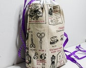 Knitting project bag - Cr...