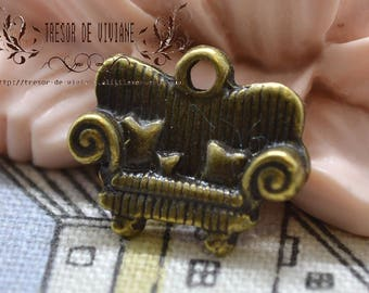set of 10 charms, Bronze, sofa, couch QWP044