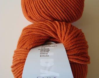 Wool MERINO 70 Lang Yarns 50 g - rust Orange brick - Merino and polyester
