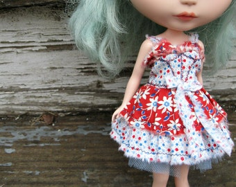 PATTERN Blythe Doll/Susie Sad Eyes Designer Pattern/Tutorial PDF for Dress  by Cindy Sowers - Shabby 2-Tone Corset Style Sundress