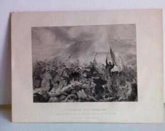 "Vintage Civil War Print ""The Capture Of Fort Donelson"""