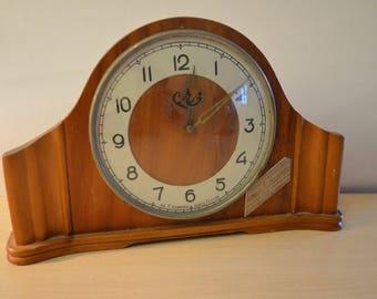 Clock vintage mantelpiece USSR 1958 year