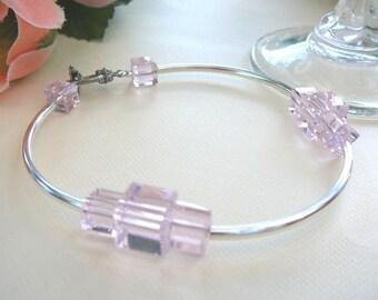 Pastel Pink Cuboid Bracelet