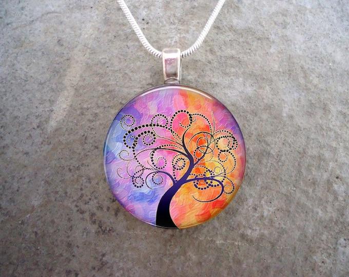 Tree Jewelry - Glass Pendant Necklace - Tree of Life Jewellery - tree 19