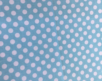 Riley Blake Basics Small Dot C350-20 Aqua By the Yard