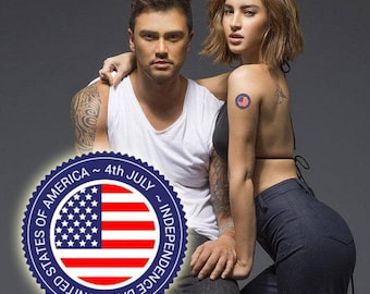 USA July 4th Independence Day Temporary Tattoos