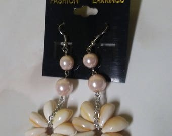 Handmade shell earrings