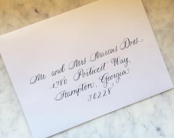 Wedding Calligraphy Envelope Addressing-Citadel Font