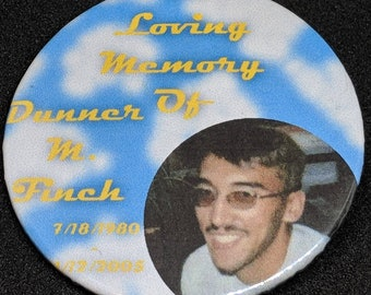 In Loving Memory Button/Pin