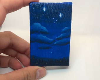 Second star to the right miniature painting