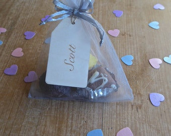 Personalised Wooden Name Tag - Wedding Favour
