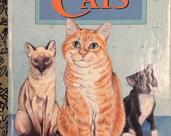 CATS Little Golden Book by Laura French Copyright 1976 /  1995 Printing  #309-72 - Golden Book Luv