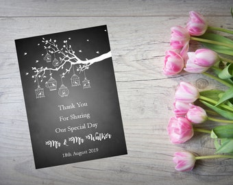 Personalised Wedding Thank You Cards with Matching Envelopes Pack Of 10 TY96