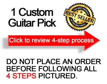 1 Custom Guitar Pick, Custom Guitar Pick, Custom Guitar Picks, Personalized Guitar Pick