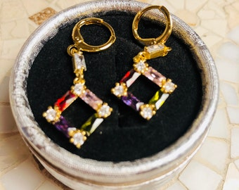 Multi-color Classy Earrings for a Night Out