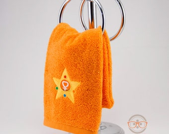 Sailor Moon Hand Towel - Sailor Venus - Embroidered Anime Bathroom Towel or Kitchen Decor
