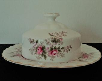 Royal Albert Lavender Rose Covered Butter Dish