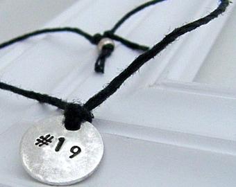 Athlete Number Bracelet - Hand Stamped Silver Wish Bracelet on Etsy
