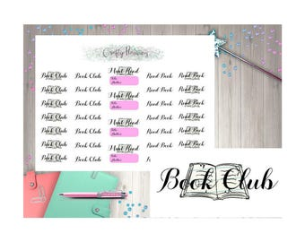 Book Club, Read Book, Book Tracker, Reading Stickers, Planner Stickers