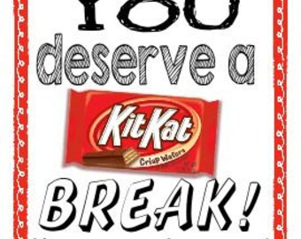 Kit Kat Candy Label for the End of the School Year